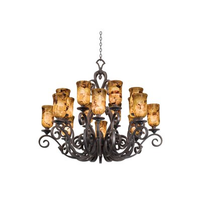 Ibiza 16-Light Shaded Chandelier Finish: Antique Copper