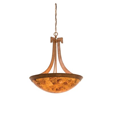 Copenhagen 5-Light Bowl Inverted Pendant Finish: Tortoise Shell