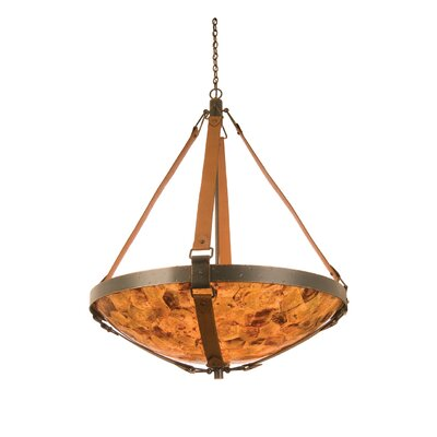 Rodeo Drive 6-Light Bowl Inverted Pendant in Antique Copper Finish: Antique Copper