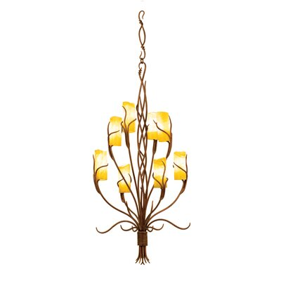 Napa 8-Light Shaded Chandelier Finish: Golden Wheat, Shade: Glass, tapered cylinder Snowflake without hole