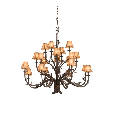 Ponderosa 20-Light Shaded Chandelier