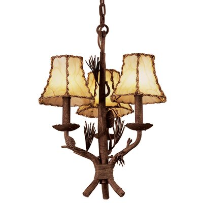 Ponderosa 3-Light Shaded Chandelier