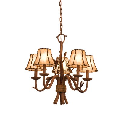 Ponderosa 5-Light Shaded Chandelier