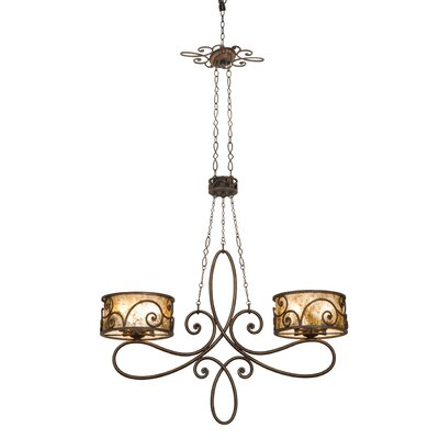 Windsor 10-Light Drum Chandelier Finish: Antique Copper, Shade: Tea stained mica shade