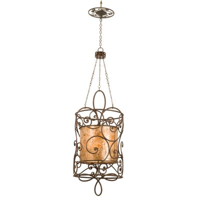 Windsor 12-Light Foyer Pendant Finish: Antique Copper, Shade: Tea stained mica shade