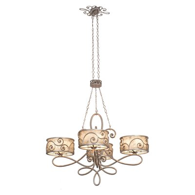 Windsor 20-Light Drum Chandelier Finish: Aged Silver, Shade: Shade, Silver Mica