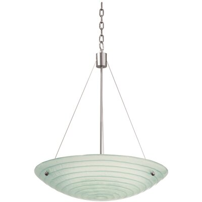 Aqueous 5-Light Bowl Inverted Pendant Bulb Type: Incandescent
