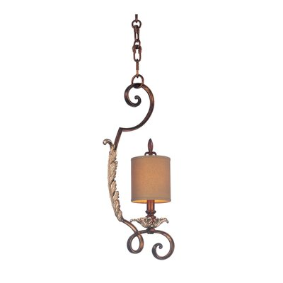 Chesapeake 1-Light Mini Pendant Finish: Antique Silver Leaf, Shade: Clear Beaded Drum