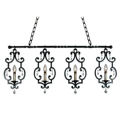 Montgomery 4-Light Kitchen Island Pendant Finish: Antique Copper