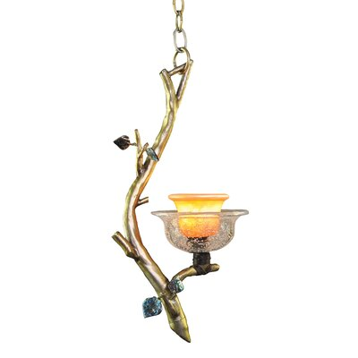 Cottonwood 1-Light Mini Pendant Finish: Sienna Bronze, Shade: Hand Painted Art Glass