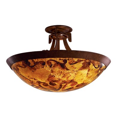 Copenhagen 3-Light Semi Flush Mount Finish: Tortoise Shell