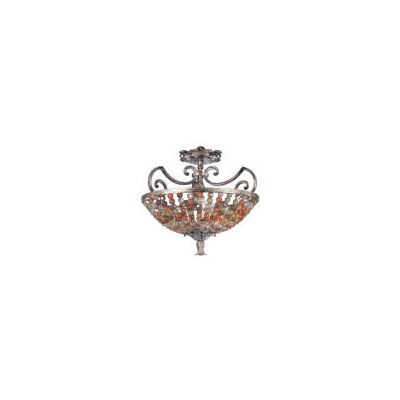 Chesapeake 3-Light Semi Flush Mount Finish: Antique Silver Leaf