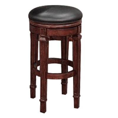 30 Swivel Bar Stool Finish: Mahogany