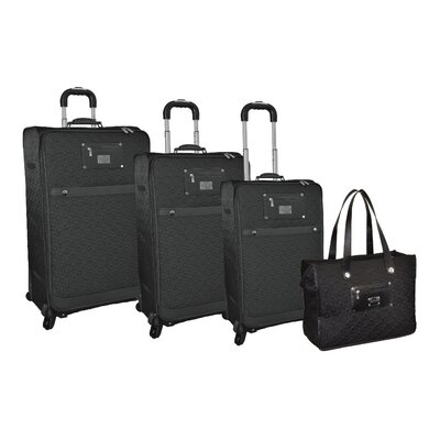 Adrienne Vittadini Quilted 4 Piece Luggage Set - Color: Saddle at Sears.com