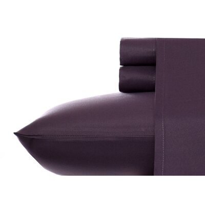 Corinne Microfiber Sheet Set Size: King, Color: Eggplant