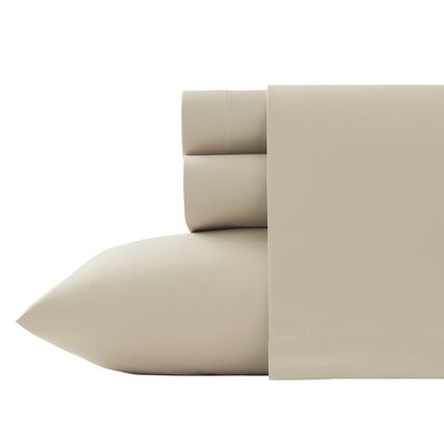 Corinne Microfiber Sheet Set Size: King, Color: Ecru