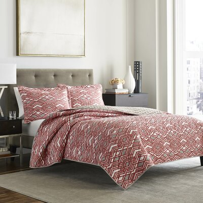 Peridot Argent 3 Piece Reversible Quilt Set Size: King