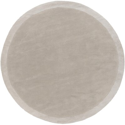 Madison Square Hand Woven Wool Light Gray Area Rug Rug Size: Round 8