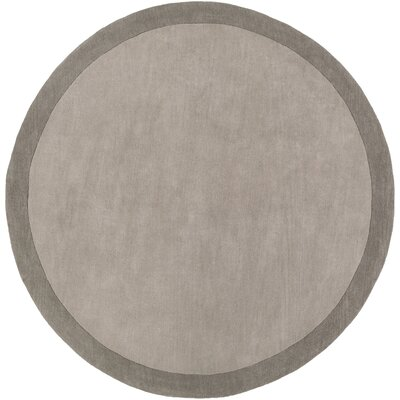 Madison Square Charcoal/Light Gray Rug Rug Size: Round 8
