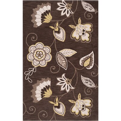 Impressions Espresso Area Rug Rug Size: Rectangle 5 x 76