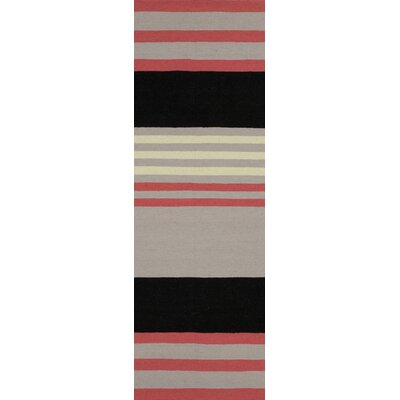 Sheffield Market Flint Gray Area Rug Rug Size: Runner 26 x 8