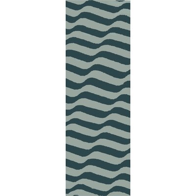 Sheffield Market Blue Area Rug Rug Size: Runner 26 x 8