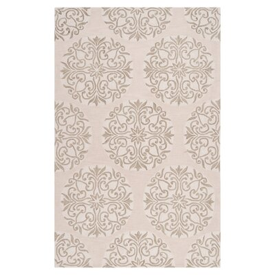 Impressions Oyster Gray Area Rug Rug Size: Rectangle 5 x 76