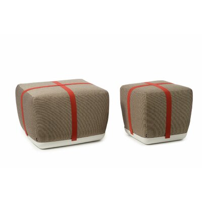 Sake Pouf Ottoman Upholstery: Caf�, Size: 20 H x 28 W