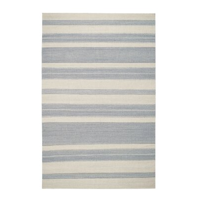 Jagges Gray/Beige Stripe Oslo Outdoor Area Rug Rug Size: Rectangle 8 x 11