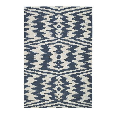 Junction Bokrum Blue Area Rug Rug Size: 7 x 9