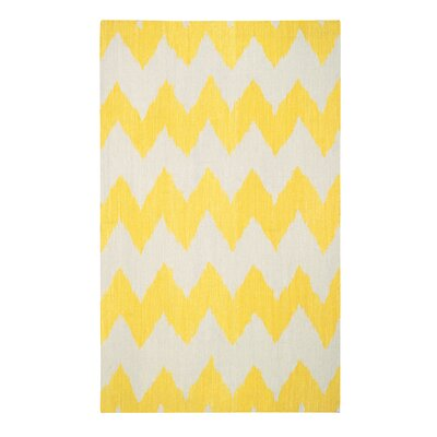 Insignia Leo Sun Yellow/Cream Area Rug Rug Size: Rectangle 5 x 8