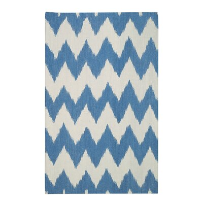 Insignia Grecian Blue/Cream Area Rug Rug Size: Rectangle 7 x 9