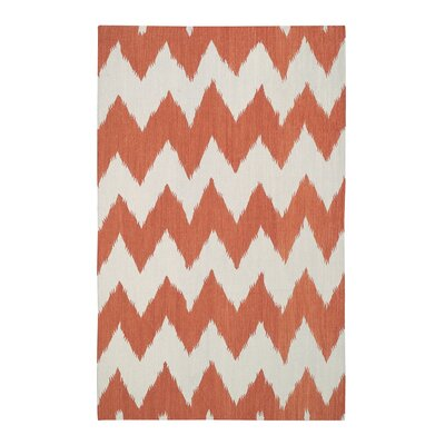 Insignia Saffron Orange/White Area Rug Rug Size: 8 x 11