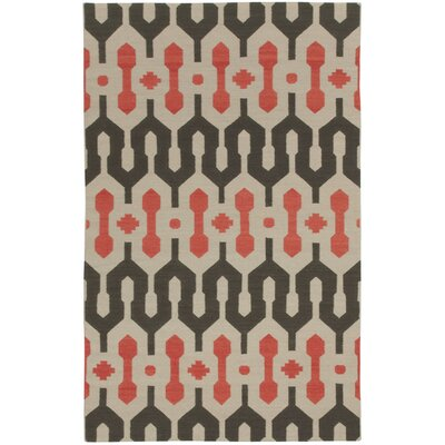 Spain Smoke/Apricot Area Rug Rug Size: 7 x 9