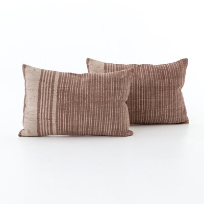 Slyvia Faded Stripe Cotton Lumbar Pillow