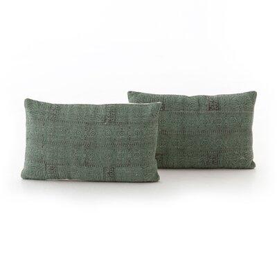 Slyvia Jade Print Lumbar Pillow