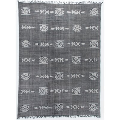 Astin Tribal Hand Knotted Cotton Gray Area Rug Rug Size: Rectangle 83 x 103