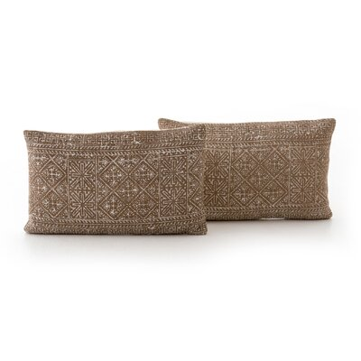 Astin Rust Diamond Lumbar Pillow
