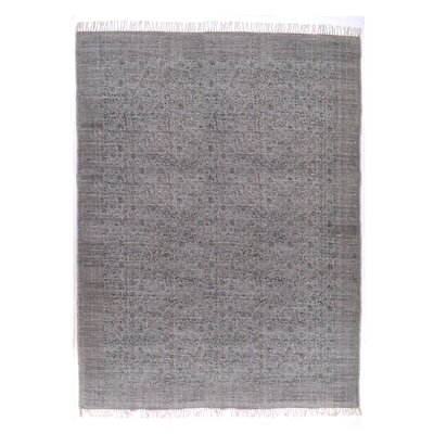 Slyvia Hand Knotted Cotton Gray Area Rug Rug Size: Rectangle 9 x 121