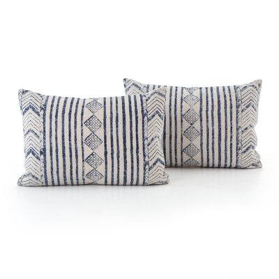 Astin Faded Diamond Cotton Lumbar Pillow