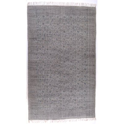 Slyvia Hand Knotted Cotton Gray Area Rug Rug Size: Rectangle 410 x 81