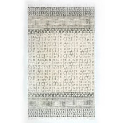 Astin Hand Knotted Cotton Gray Area Rug Rug Size: Rectangle 83 x 103
