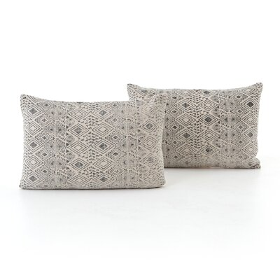 Astin Faded Print Cotton Lumbar Pillow
