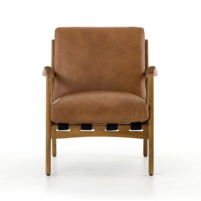 Sigrid Armchair Upholstery: Brown, Finish: Brown