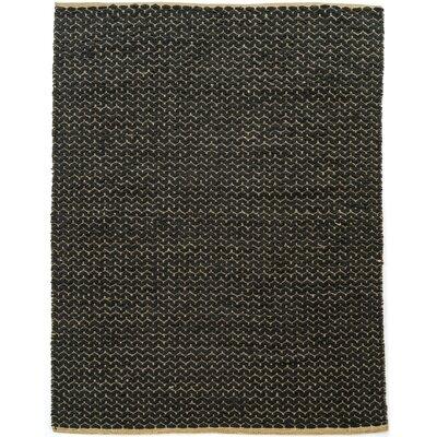 Natalee Hand Woven Black Area Rug Rug Size: Rectangle 83 x 103