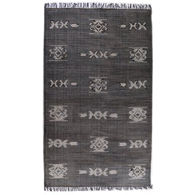 Astin Tribal Hand Knotted Cotton Black Area Rug