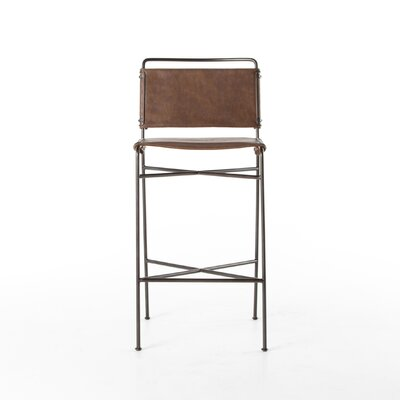 Stasia Leather Bar Stool