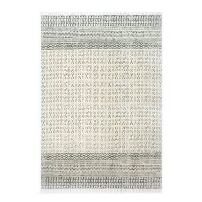 Astin Hand Knotted Cotton Gray Area Rug Rug Size: Rectangle 9 x 121