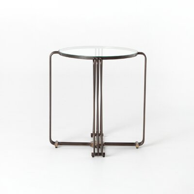 Stepanie End Table with Glass Top
