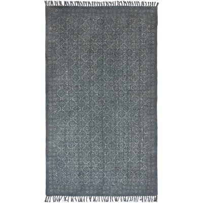 Slyvia Hand Woven Cotton Gray Area Rug Rug Size: Rectangle 410 x 81